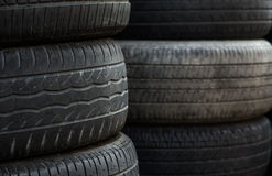 Old tire tread as background Stock Image
