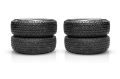 Old tire  on white background Royalty Free Stock Photography