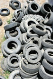 Old tires. Picture, environmental pollution Royalty Free Stock Photography