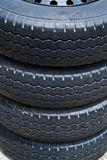 Old tires. Detail of the old tires Royalty Free Stock Photography