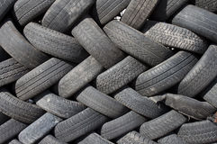 Old tires. On the scrap yard Royalty Free Stock Photography