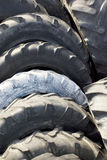 Old tires. On the scrap yard stock photos