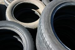 Old Tires. Old Used Tires royalty free stock photo