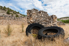 Old tires abandoned Stock Image