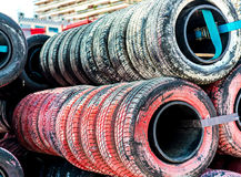 Old tires background Royalty Free Stock Photo