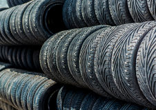 Old tires background Royalty Free Stock Image