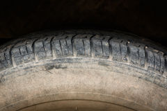 Old tires. Old black tires of car wheel Royalty Free Stock Photos