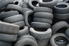 Old tires detail Stock Photos