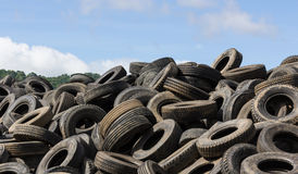 Old tires heap Royalty Free Stock Images