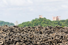 Old Tires heap Stock Photography