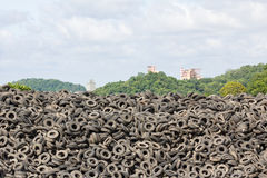 Old Tires heap royalty free stock photography