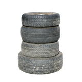 Old tires , isolated on white Royalty Free Stock Photography