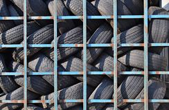 Old tires recycling Royalty Free Stock Image