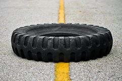 Old Tires On The Road. The Photo Old Tires On The Road Stock Photos