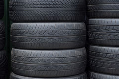 Old tires stack Stock Images