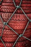 Old tires stacked Royalty Free Stock Photo