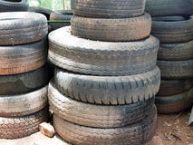 Old tires, tires spare royalty free stock photos