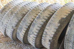 Old  tires of truck Stock Photos