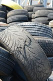 Old tires royalty free stock photo