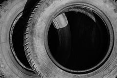 Old tires view Stock Image