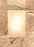 Old tissue paper frame Stock Photos