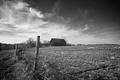 Old Tobacco Barn  Royalty Free Stock Images