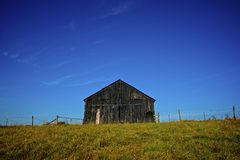 Old Tobacco Barn 3 Color Stock Photo