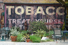 Old Tobacco Billboard Stock Photography