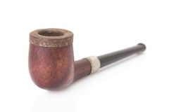 Old tobacco pipe Royalty Free Stock Images