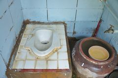 Old toilet in the countryside. Royalty Free Stock Photo