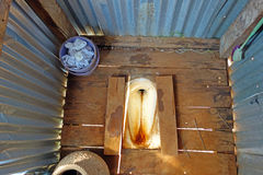 Old toilet in the countryside home Stock Photography