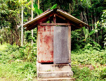 Old  toilet in garden  in Thailand Royalty Free Stock Image
