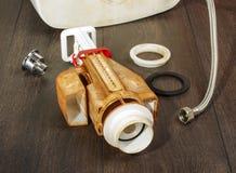 Old toilet machinism Stock Photo
