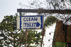 Old toilet sign Stock Photography
