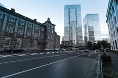 Old Tokyo railway station building Stock Photo