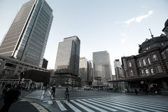 Old Tokyo railway station building Stock Image