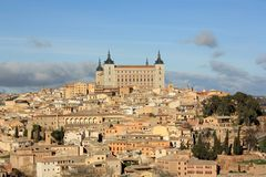 Old Toledo town, former capital of Spain. Royalty Free Stock Photography