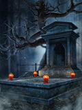 Old tomb with lanterns Royalty Free Stock Photo