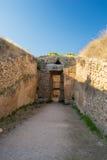 Old Tomb of Mycenae Stock Photos