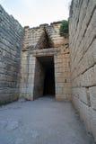 Old Tomb of Mycenae Stock Photography