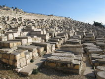 Old tombs in Jerusalem royalty free stock photo