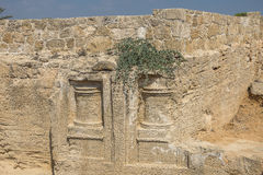 Old tombs in Kyrenia stock photography
