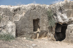 Old tombs in Kyrenia royalty free stock images
