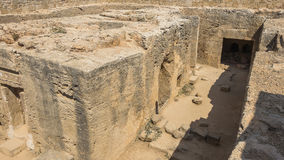 Old tombs in Kyrenia stock image