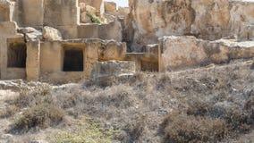 Old tombs in Kyrenia stock photos