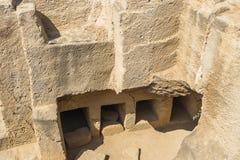 Old tombs in Kyrenia stock photo