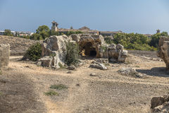 Old tombs in Kyrenia royalty free stock photo