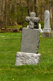 Old tombstone with a cross Royalty Free Stock Photography