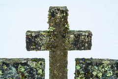 Old tombstone cross Royalty Free Stock Photo