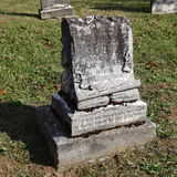 Old Tombstone. S in a Mountain View Cemetery in the Smokey Mountains in Eastern TN Stock Photography
